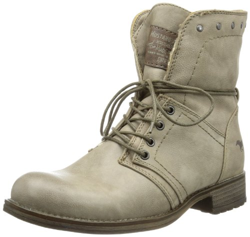 Mustang  Schnür-Booty, Bottes Classics courtes, doublure chaude femme Marron (318 Taupe)