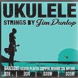 Dunlop DUY304 Jeu de cordes pour Ukulélé Baryton 28-34-30-35