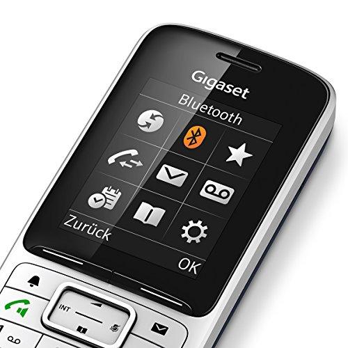 Gigaset SL450 Telefon - Schnurlostelefon / Mobilteil - mit Farbdisplay - Freisprechen - Design Telefon / schnurloses Telefon - platin schwarz - 4
