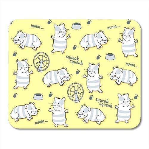(Deglogse Gaming-Mauspad-Matte, Pattern Animal Guinea Pig and Hamster Wheel Mouse Pad, Desktop Computers mats)