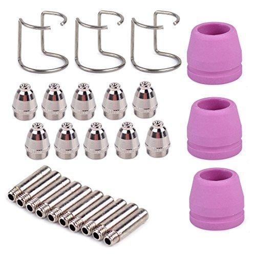 Plasmaschneider Verbrauchsfähige Fackel Elektrode Tip Düse Schirm Cup Spacer Guide Kit passend für SG-55 AG-60 WSD-60
