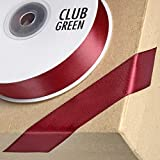 Club Green Double Satinband, dark burgund, 6 mm x 25 m