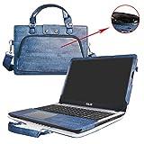 Asus X540SA X540LA Housse,2 en 1 spécialement conçu Étui de protection en cuir PU + sac portable Sacoche pour 15.6' Asus VivoBook X540SA X540LA A540LA series ordinateur,Bleu