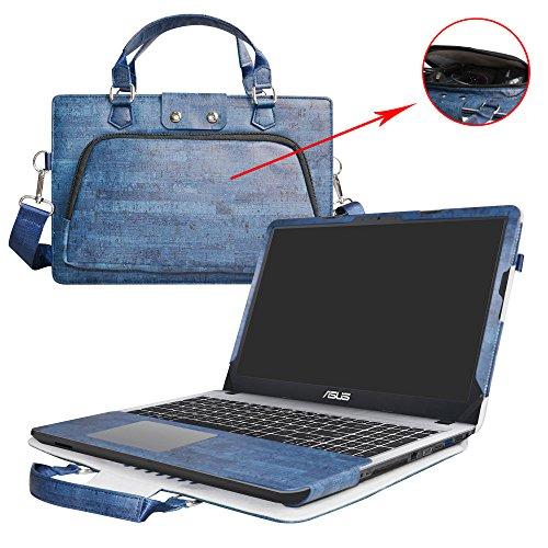 """Asus X540SA X540LA F540SA F540LA Hülle,2 in 1 Spezielles Design eine PU Leder Schutzhülle + portable Laptoptasche für 15.6"""" Asus VivoBook X540SA X540LA F540SA F540LA series Notebook,Blau"""