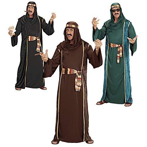 Kostüm Arabische Geld - Widmann 3141A - Erwachsenenkostüm Arabischer Scheich - Tunika, ärmelloser Mantel, Gürtel und Turban, Größe XL, Mehrfarbig