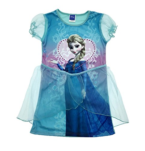 Frozen Kostüm Dress Up - Mädchen Disney Kleid Up Kostüm Frozen Princess Fancy Kleid Party Outfit Größe UK 3-6 Jahre, Blau, 11184#54014#FROZEN#ELSA#03/04