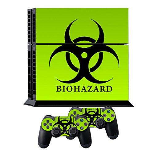 Ps4 pelli playstation 4 vinile adesivi giochi ps4 sistema + due decalcomanie del controller - biological harzard