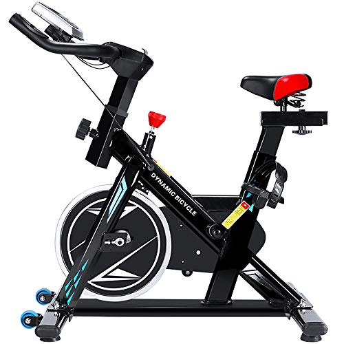 DMMW Fitnessbikes Indoor Cycling Bike Cycle Trainer Herzfrequenz Fitnes Übung Fahrrad Stationäre Heimtrainer Mit LCD-Display für Home Cardio Gym Workout Fitness