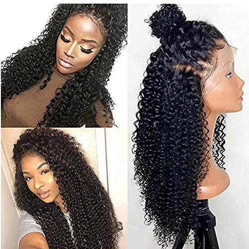 wig Kinky Curly Lace Front Echthaar Perücken Für Frauen Brasilianische Remy Haar Lace Frontal Perücken Pre Gezupft Mit Baby Haar Slove Funm (Curly Menschliches Haar Lace Perücken)