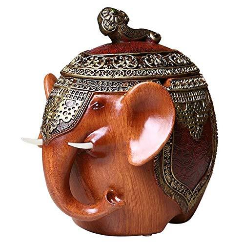 RQWY Cenicero de moda cenicero elefantes retro moda cenicero de moda multifuncional...