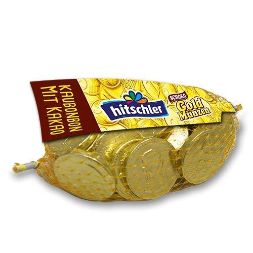 Hitschler Goldmünzen Kaubonbons mit Schokogeschmack, 40er Pack 6 kg (40 x 150g Netze)