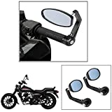 #2: Vheelocity Motorycle Bar End Mirror Rear View Mirror OvalFor Bajaj Avenger