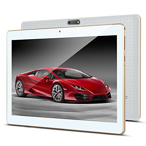 10 Zoll Android Tablet PC PADGENE 32G Speicher 2G RAM 0.3MP/2MP Kamera Dual-SIM Slots USB/SD IPS HD 1280x800 WiFi/3G/2G Entsperrt Bluetooth GPS Telefonfunktion