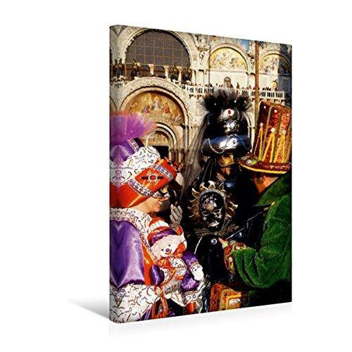 Calvendo Premium Textil-Leinwand 30 cm x 45 cm hoch, EIN Motiv aus dem Kalender Masken der Sehnsucht - Karneval in Venedig | Wandbild, Bild auf Keilrahmen. Leinwand, Leinwanddruck Kunst Kunst