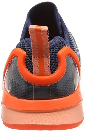 adidas ZX Flux ADV, Scarpe da Corsa Unisex – Adulto Blu (Mini Blue/Mini Blue/Solar OrangeMini Blue/Mini Blue/Solar Orange)