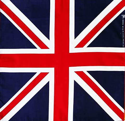 100% cotton Flag of Union Jack Handkerchief Headwrap Bandana
