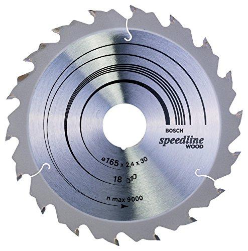 Bosch Zubehör 2608640789 Kreissägeblatt Speedline Wood 165 x 30/20 x 2,4 mm, 18