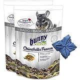 2 x 3,2 kg Bunny Chinchilla Traum Basic Futter für Chinchillas + Microfasertuch