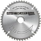 Scheppach 3901803704 Lame en carbure de tungstène pour scie circulaire plongeante Diamètre 145x 20mm 2,2mm 48 dents