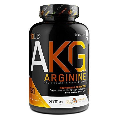 Starlabs Nutrition AKG Arginina Suplemento Nutricional - 180 Cápsulas