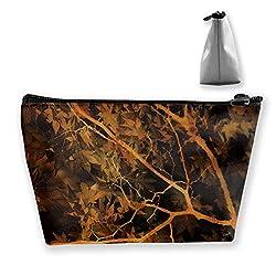 Tragbare Shell Makeup Bag Clutch Abstract Blätter Bäume drucken Reise Aufbewahrungstasche Telefon Geldbörse