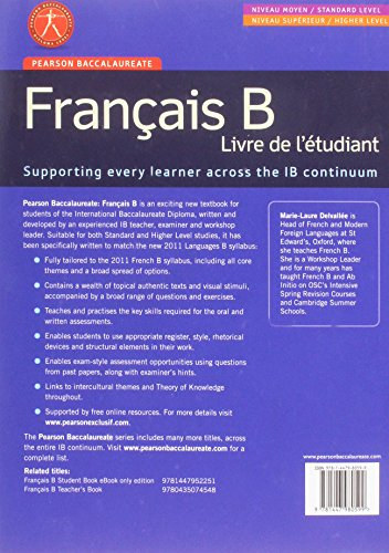 Pearson Baccalaureate Francais B New Bundle (Not Pack) (Pearson International Baccalaureate Diploma: International Editions)