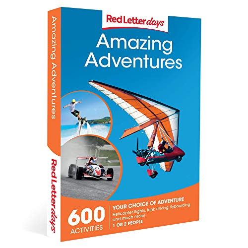 Red Letter Days Amazing Adventures Gift Voucher - 600 adrenaline filled UK experiences