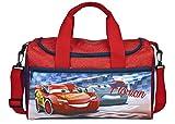 kleine Sporttasche mit Namen | Motiv Cars in dunkelblau & rot | Personalisieren & Bedrucken |...