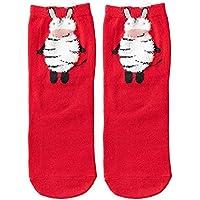 ☺Weihnachts Premium Kurze Socken Sneaker Söckchen Knöchelsocken Unisex Sportsocken Baumwollsocken Niedlich Tierdruck Socken Atmungsaktiv Fußboden Socken für Herren & Damen & Mädchen & Jungen 1 Paar