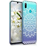 kwmobile Huawei P Smart (2019) Hülle - Handyhülle für Huawei P Smart (2019) - Handy Case in Aztec Sonnenblume Design Weiß Transparent