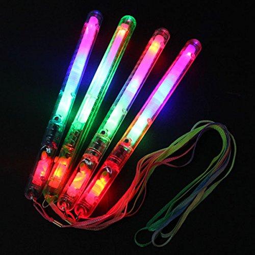Preisvergleich Produktbild KING DO WAY 10 Stueck Party stick LED Leuchtstick party leuchtstab Karneval Leuchtstab Knicklichter Rave Party Glowstick Deko Spiel in Farbe zufaellig versendet