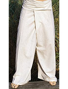 Guru-Shop, Pantalones de Pescador, Pantalones de Algodón de Envoltura de los Pantalones de Yoga en Nepal, Color...