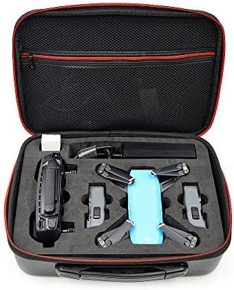 imusk de poche fibre de carbone sac à main Drone Batterie de stockage Box pour DJI Spark Drone Case Noir | Des Technologies Sophistiquées