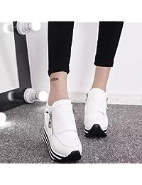 Donyyyy Zapatos de mujer en la primavera y el otoño son super tacón alto 11cm de espesor final pendiente y cremallera...