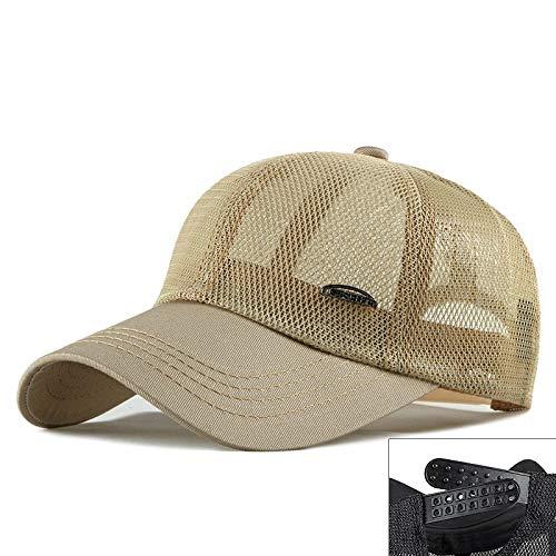 woyaochudan Hut männlich Sommer Hohlnetz Größe Baseball Cap atmungsaktiv Kopf um die Kappe weiblich Sonnenschutzvisier 2 XL 60-64cm