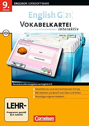 English G 21 - Vokabelkarteien interaktiv - Lernsoftware zu allen Ausgaben: Band 5/Abschlussband 5:...