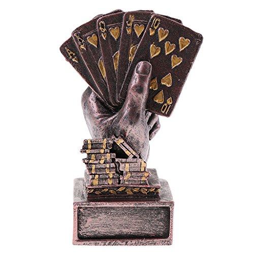 Hellery Metal Poker Finger Trophy Cup Gewinner Award Für Casino Turnier DIY - Puce