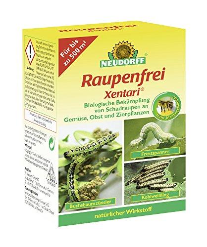 Neudorff oruga libre xentari, bacillus thuringiensis, präparat biológico, 25g lata, 63,80Eur/100g