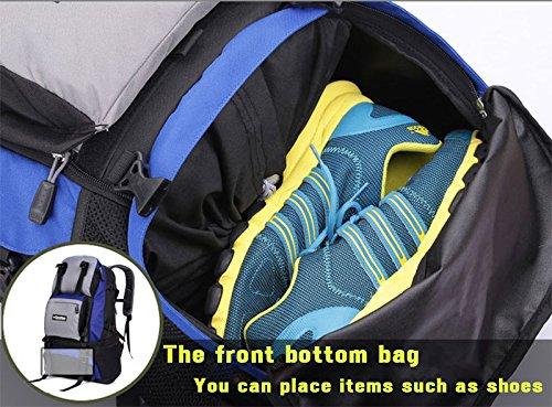 Padgene Outdoor Sport Rucksack 40L Wasserdicht Trekkingrucksäcke Wanderrucksäcke Backpack Reiserucksack (Blau) Orange
