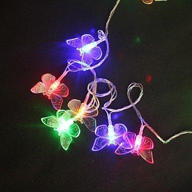 MEIWEI 5M 40-LED multicolore lampada di Natale String festa di nozze farfalla leggera (Farfalla Strings)