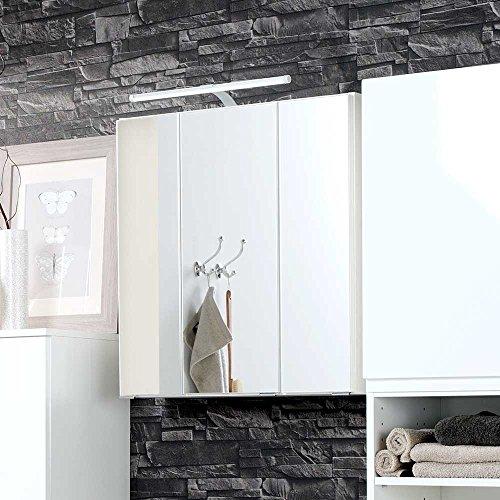 #Bad Spiegelschrank in Weiß 3D Breite 80 cm Pharao24#