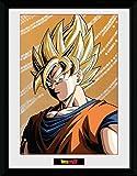 1art1 103438 Dragonball Z - Goku Gerahmtes Poster Für Fans und Sammler 40 x 30 cm
