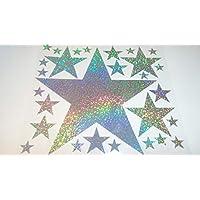 Bügelbild, Motiv: Sterne, Farbe: