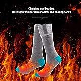 TIREOW Elektrische Beheizte Socken Kit Unisex Warme Thermische Socken Akku Fußwärmer Winter Männer Frauen Perfekt für Indoor Outdoor Sport Angeln/Wandern/Schlafen 3,7 V - 2
