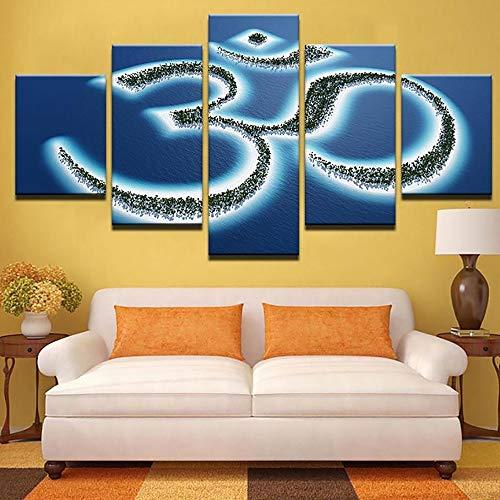 GTT& Leinwände drucken Wandkunst Dekor 5 Stck 30-jähriges Jubiläum Gedenken Bild Foto Drucke auf Leinwand Modern Gemälde Artwork Zum Zuhause Dekoration,A,30x50x2+30x70x2+30x80x1