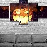 5 Quadro su tela Con Telaio Quadri su tela Zucca di Halloween Guerre stellari Poster su tela Quadri per decorazioni per la casa Decorazioni murali