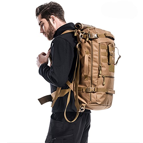 yinggg Leinwand Rucksack Herren Casual Daypacks Travel Tasche für Wandern/Camping/Outdoor desert camouflage