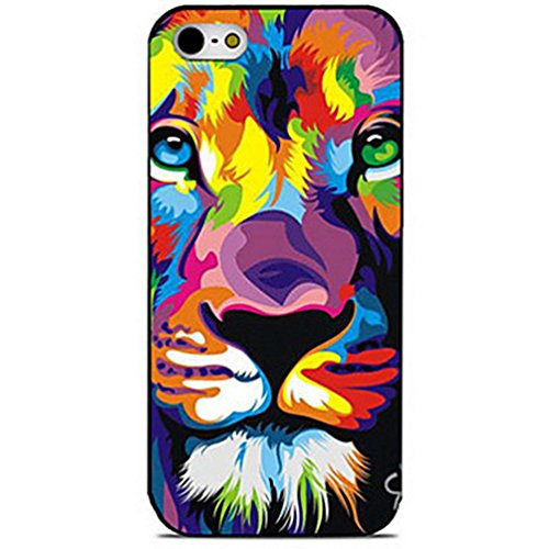 SecondDromi Nettes buntes Tigerkopf-Porträtmuster stark hülle für iphone 5S,für iPhone SE,Pink