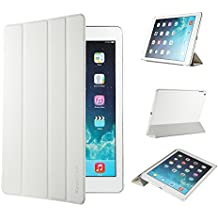 iPad Air 2 Hülle, EasyAcc Ultra Slim Cover Schutzhülle Bumper Lederhülle mit Standfunktion / Auto Sleep Wake Up Funktion für iPad Air 2 2014 Modell Number A1566/ A1567 - Weiß, Ultra Slim