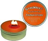 Cracklez Knetter Houten Lont Geur Kaars in blik Patchouli en Ceder. Oranje-rood. Aromatherapie.